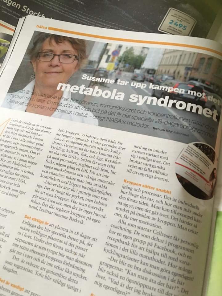 Susanne skriver om metabola syndromet